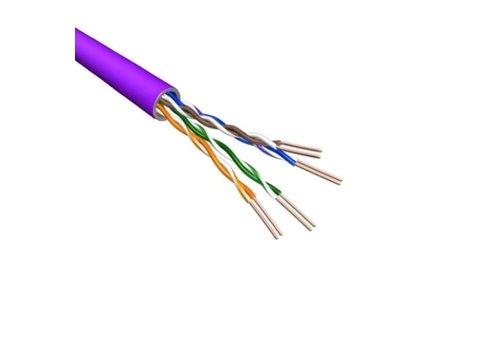 Cat.6 U/UTP Kabel Soepel AWG24 LSZH Paars 500m 100% koper