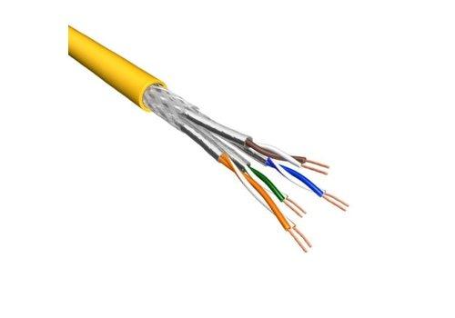 Cat.6 S/FTP Kabel Soepel AWG26 LSZH Geel 500m 100% koper