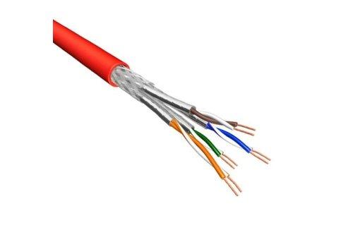 Cat.6 S/FTP Kabel Soepel AWG26 LSZH Rood 500m 100% koper