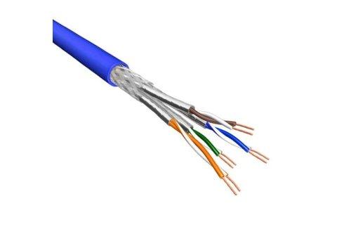 Cat.6 S/FTP Kabel Soepel AWG26 LSZH Blauw 500m 100% koper