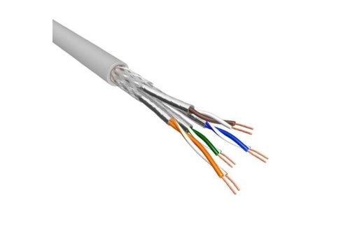 Cat.6 S/FTP Kabel Soepel AWG26 LSZH Licht Grijs 500m 100% koper