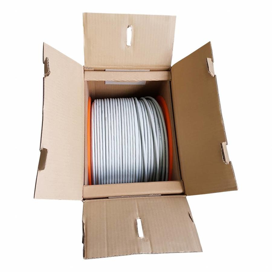 CAT6a U/FTP kabel massief AWG23 LSZH Grijs 305M 100% koper