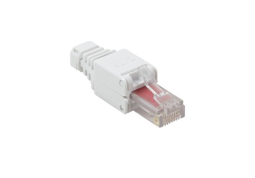 CAT6 Toolless Plug with strain relief boot RJ45 - UTP
