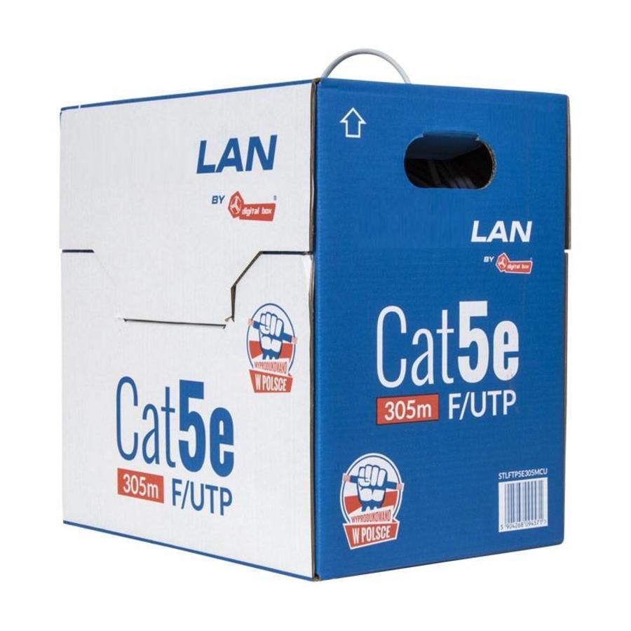 Cat5e F/UTP Kabel Massief AWG24 PVC Grijs 305m 100% koper