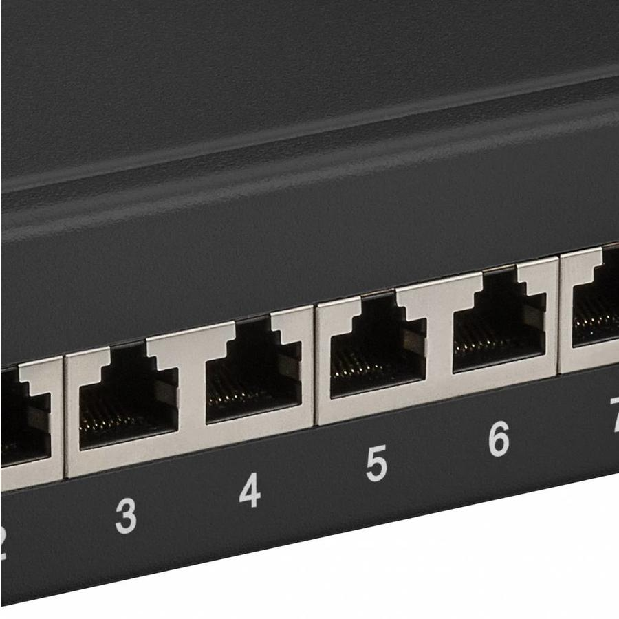 CAT 6a 10 inch patch panel 12 poorts