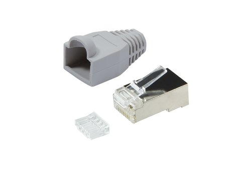 CAT6 Plug with strain relief boot RJ45 - STP 10 pcs