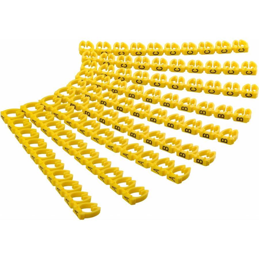 Kabelmarkering A-C voor diameter 4 tot 6mm 90 stuks