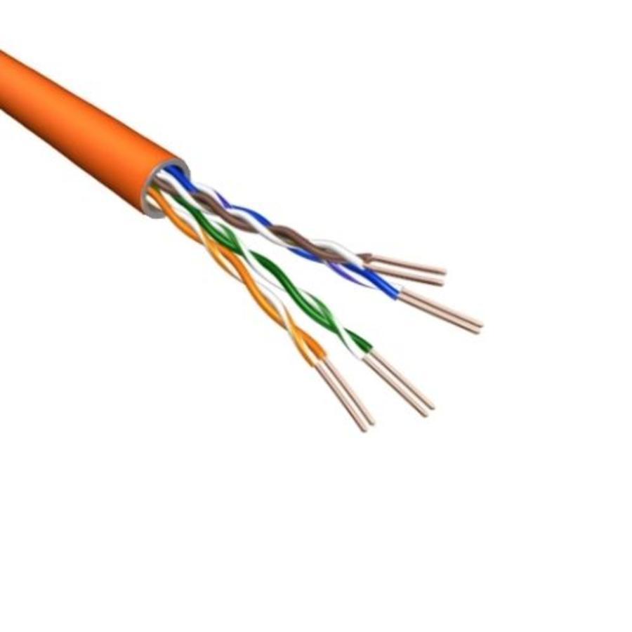 Cat.6A U/UTP Kabel Massief AWG23 LSZH Oranje 500m 100% koper