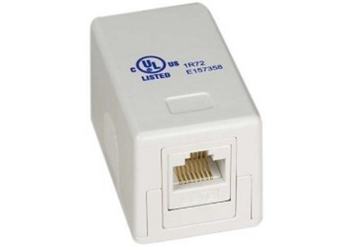 Cat.6 Wall Outlet 1x RJ45 UTP RAL 9010 White