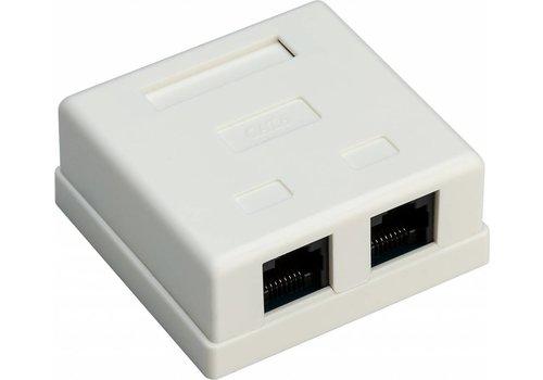 CAT6 netwerkdoos 2x RJ45 UTP