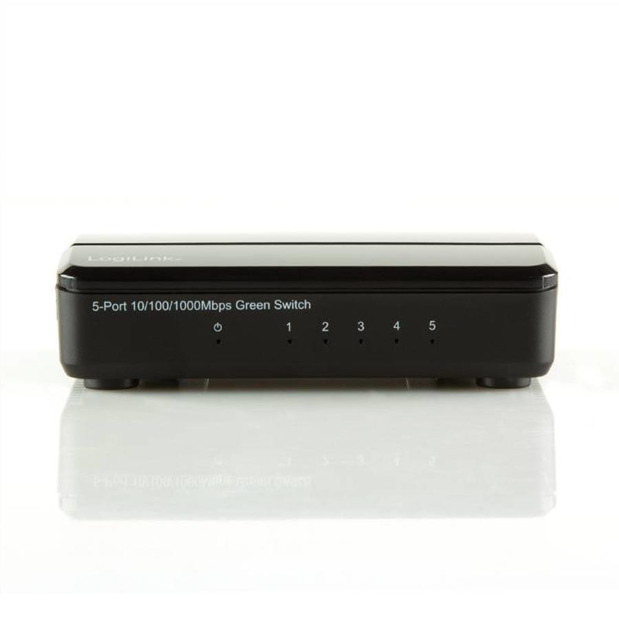 5-POORTS GIGABIT SWITCH 10/100/1000 MBPS