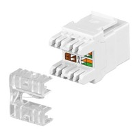 CAT5e Keystone RJ45 unshielded zwart