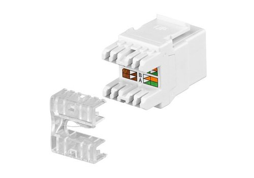 Cat5e Keystone RJ45 Unshielded Black