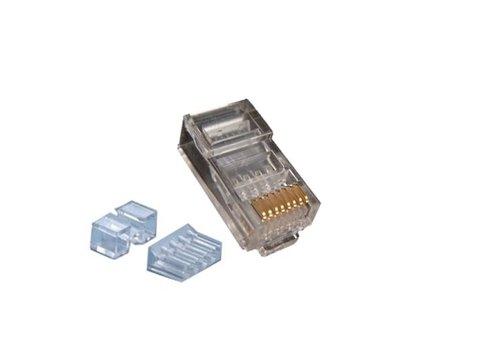 Modulair Plug RJ45 Cat6A UTP Soepel + Hulpgeleider
