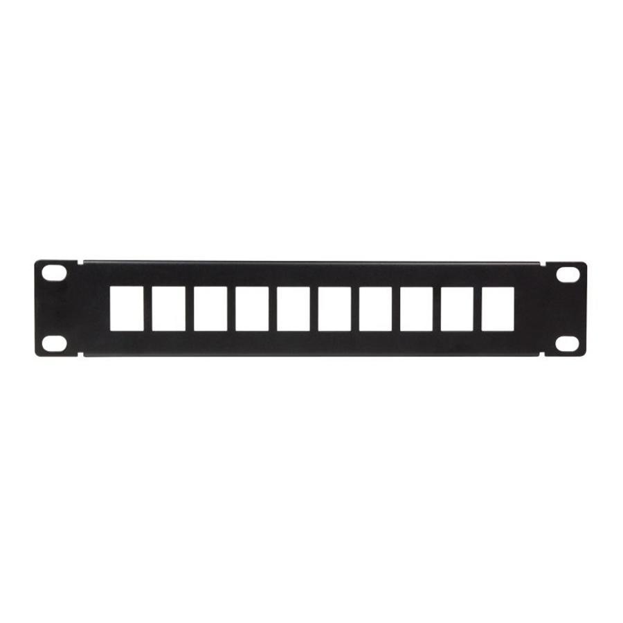 Patchpaneel voor Keystonejack 10 poorten 10 inch Zwart