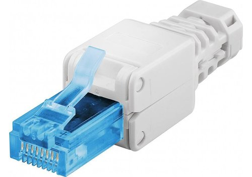 CAT6a Toolless Plug With Strain Relief Boot RJ45 - UTP