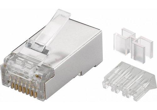 Modulair Plug RJ45 Cat6A STP Shielded Soepel + Hulpgeleider