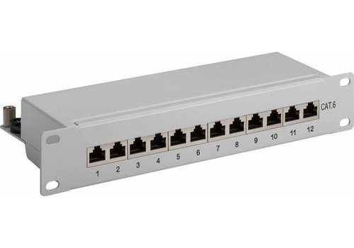CAT6 10 inch patch panel 12 poorts