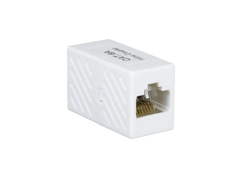 Inline Coupler 1:1 CAT6a 10GE RJ45 UTP white