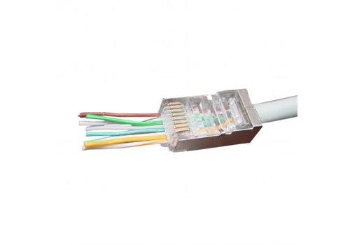 Gemakkelijke Cat5e connector shielded