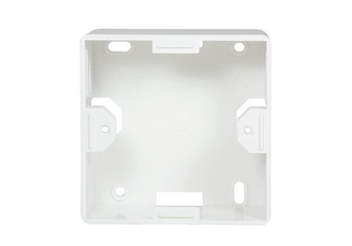 Outlet Surface Mounting Box for Faceplates RAL9010 White