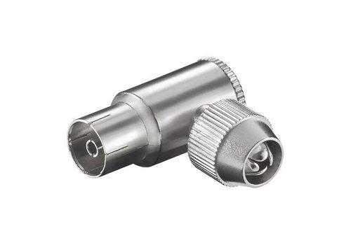 COAX hoek jack 9.5 mm metaal