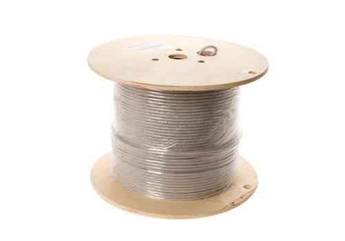 U/FTP CAT6a network cable solid 500M 100% copper grey