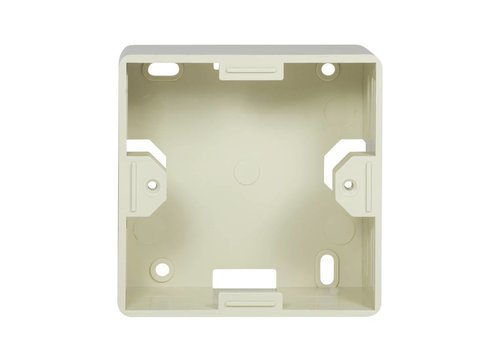 Outlet Surface Mounting Box for Faceplates RAL1013 White