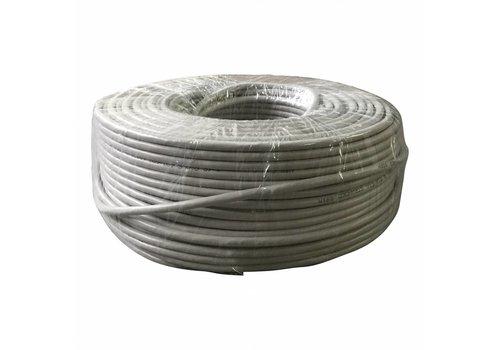 FTP CAT5e netwerk kabel stug 50M CCA Grijs