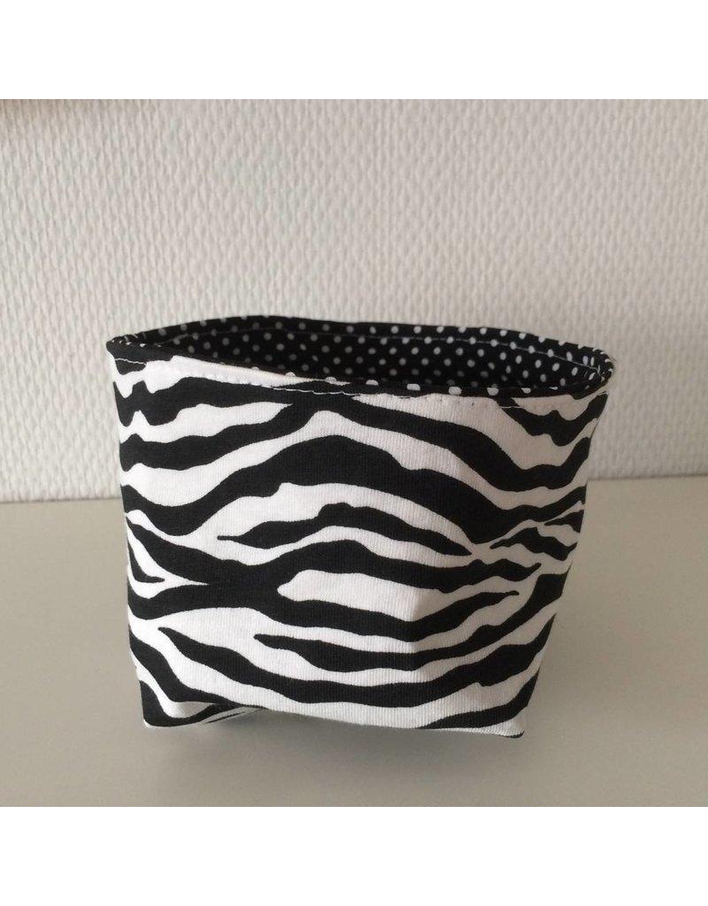 mandje 10 cm zebra