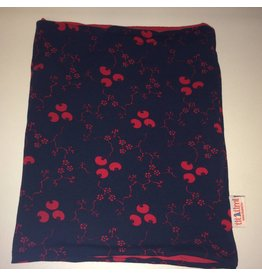 circelsjaal tricot binnenzijde blauw en rood