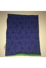 cirkelsjaal fleece blauw