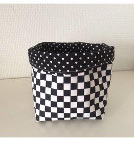 mand 10 cm printje zwart wit