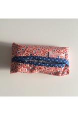 zakdoekhoesjes printje rood blauw