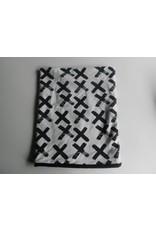 cirkelsjaal fleece wit zwarte X