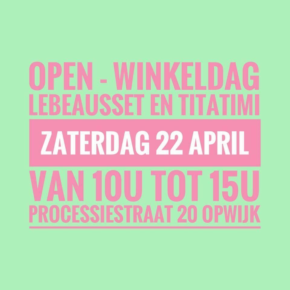 open winkeldag en stockverkoop titatimi en LeBeauSset