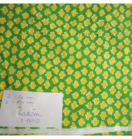 stof katoen  geel om groen