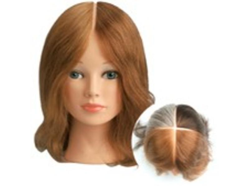 Sibel Oefenhoofd 4 Colors 15-25cm 100% Menselijk Haar