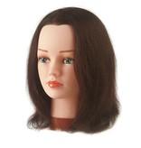 Sibel Oefenhoofd Betty Donker Bruin 15-30cm 100% Echt Haar