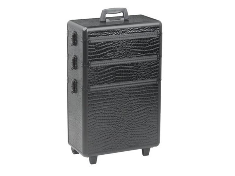 Sibel Koffer Modular Zwart Met 3 Opbergniveaus