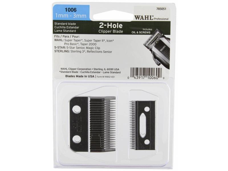Wahl Taper Snijmes 1mm-3mm 2 Hole Clipper Blade
