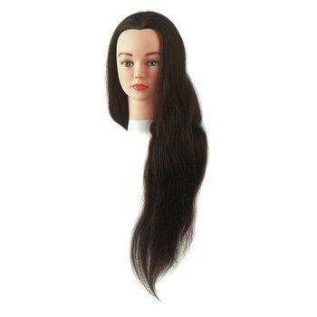 Sibel Oefenhoofd Jenny Bruin 40-60 Cm 100% Echt Haar