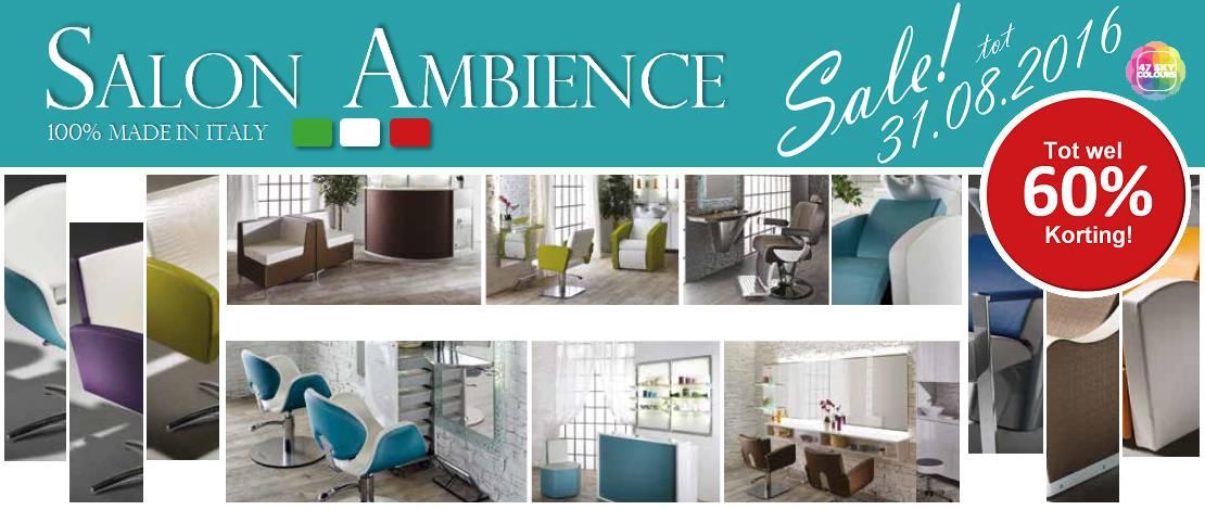 Salon Ambience Sale, tot wel 60% korting!