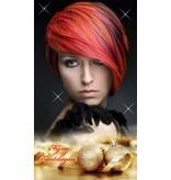 H-Graphics Banner Kerst Dame Kort Portret Goud 80x140cm