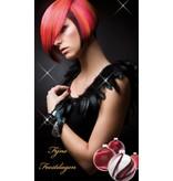 H-Graphics Banner Kerst Dame Kort Profiel Rood 80x140cm