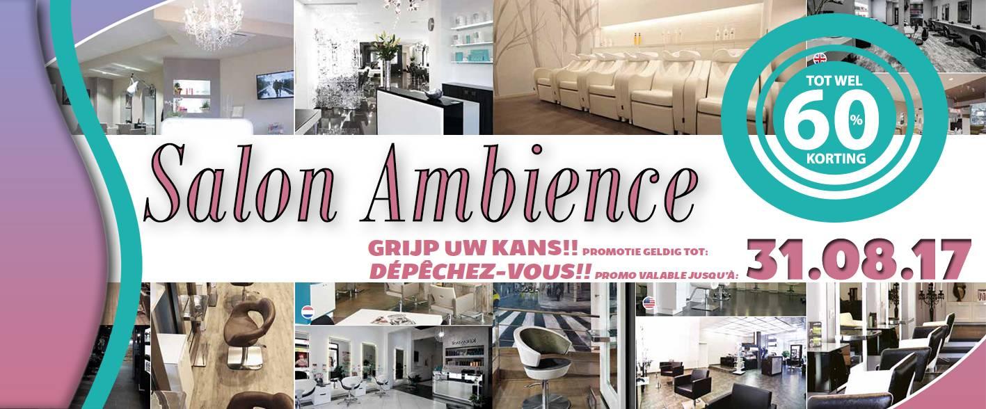 Salon Ambience korting t/m 31.08.17