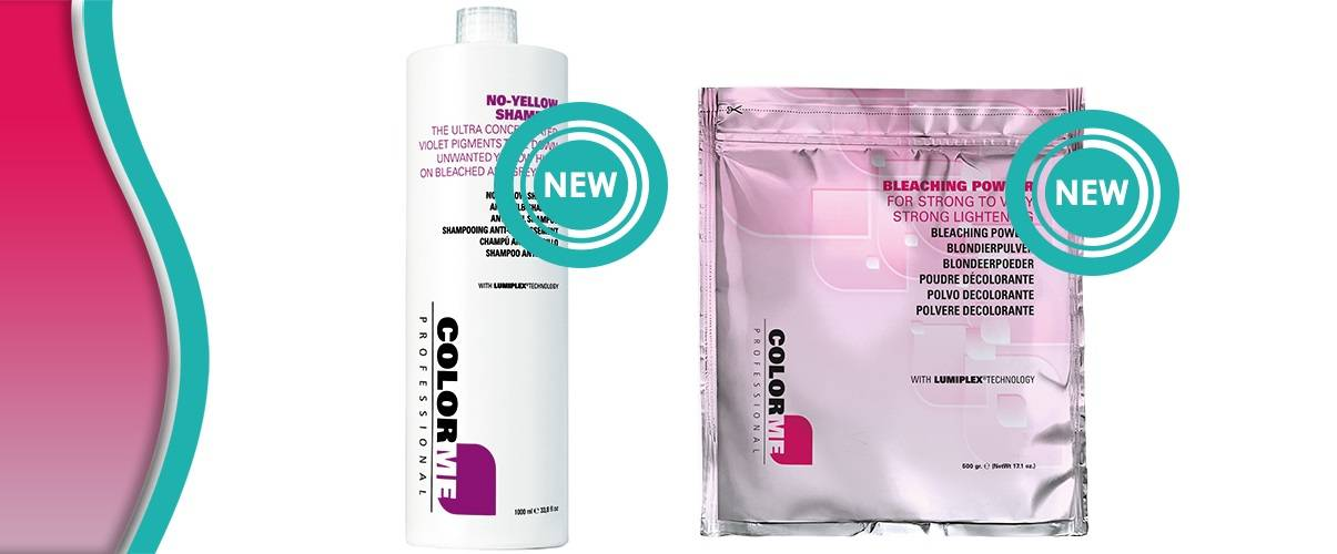 Nieuw! Me Professional ColorME No-Yellow Shampoo & ColorME extra krachtige blondeerpoeder