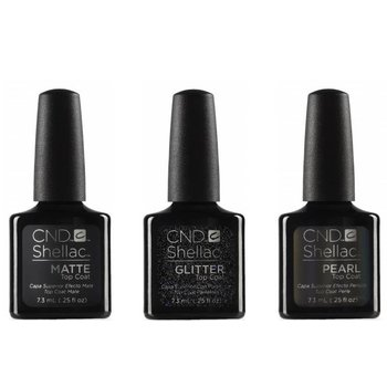 CND SHELLAC™ Alluring Trilogy Top Coats Collection