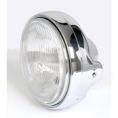 "7"" Chrome Cafe Racer Headlight Universal"