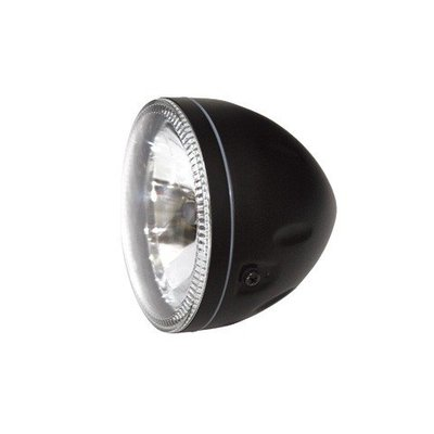 "5.75"" Halo Cafe Racer Headlight H4, Black, E-mark"